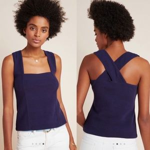Maeve by Anthropologie Stephie Cross-Back Top